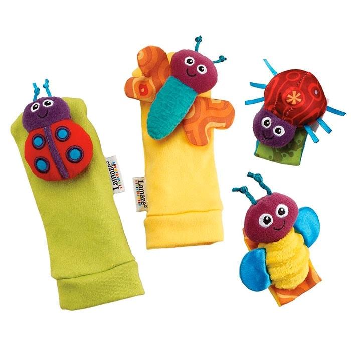 Lamaze - Sonajeros para muñeca y calcetines insectos