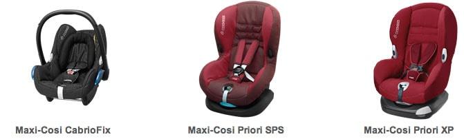 Maxi-Cosi Cabriofix, Maxi-Cosi Priori SPS Plus (Silla de coche) y Maxi-Cosi Priori XP (Silla de coche)