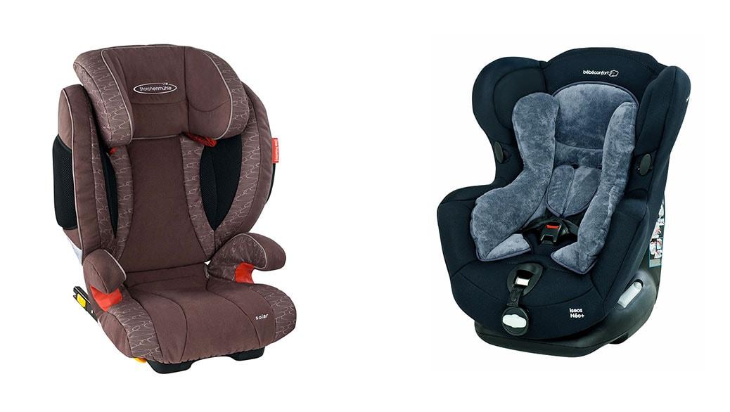 Outlet de sillas de coche para niños: Storchenmühle Solar Seatfix y Bébé Confort Iseos Neo+