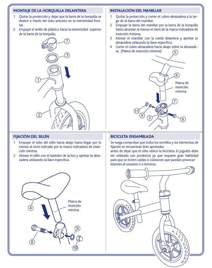 Chicco First Bike - bicicleta sin pedales - montaje