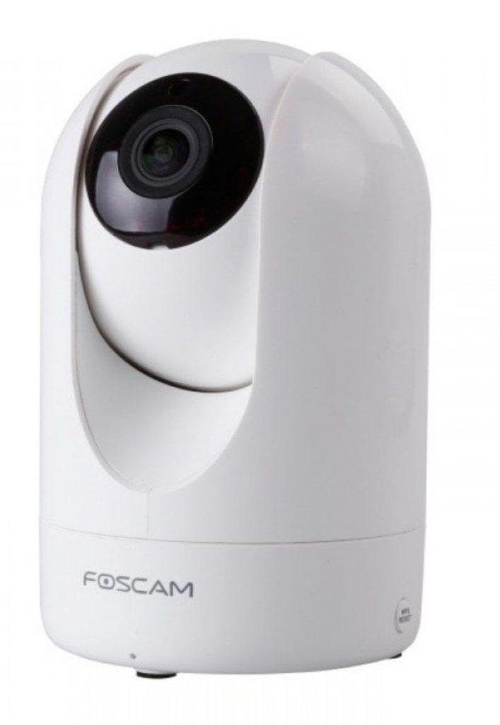 Foscam R2- Cámara IP de vigilancia de interior, 2 MP, función P2P, 1080p Full HD, H264, WIFI, ángulo 110º, color blanca