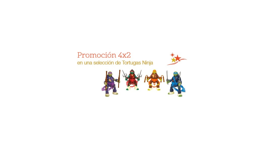 Rebajas de enero en juguetes: promoción 4x2 en figuras de Tortugas Ninja