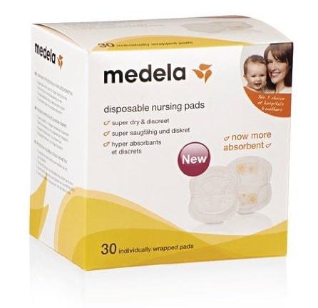 Medela 0080309 - Pack de 30 discos absorbentes desechables para pérdidas de leche
