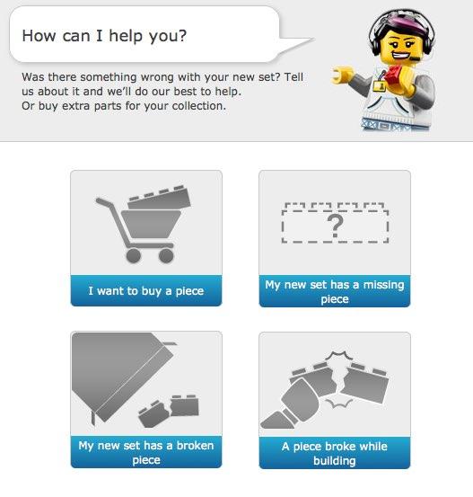 LEGO piezas perdidas