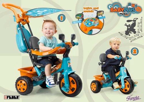 FEBER Baby Plus Music Triciclo evolutivo