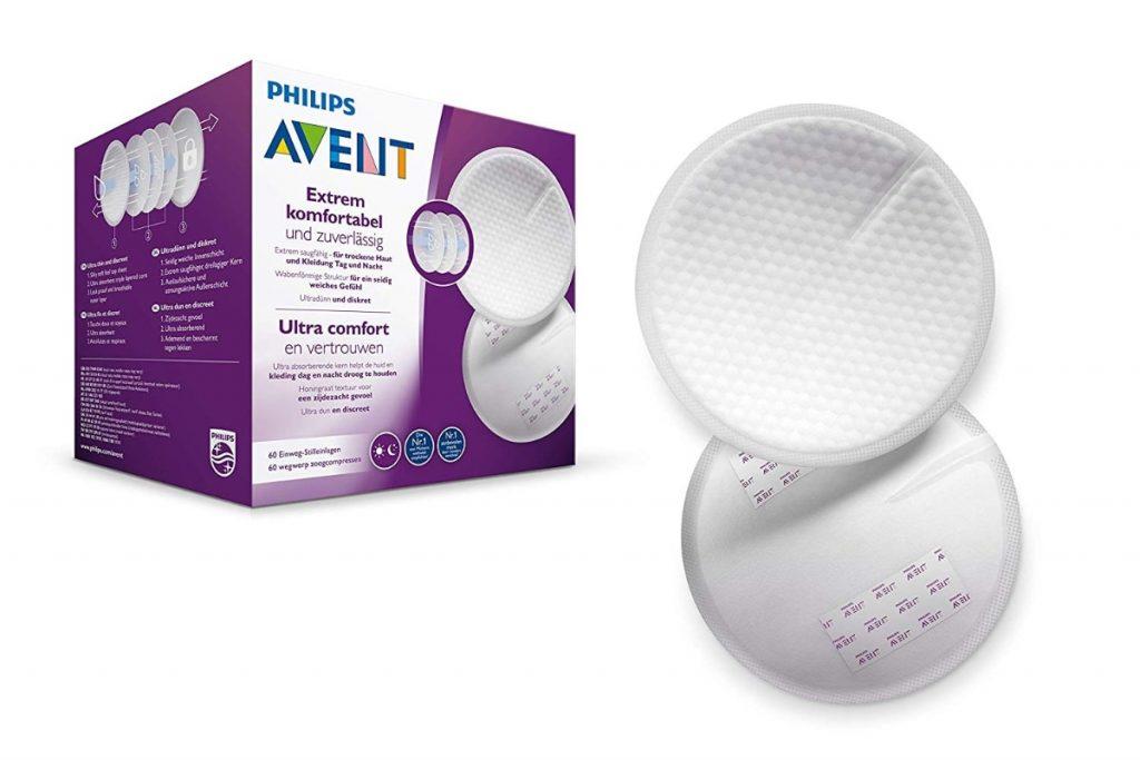 Discos absorbentes de lactancia desechables de Philips Avent