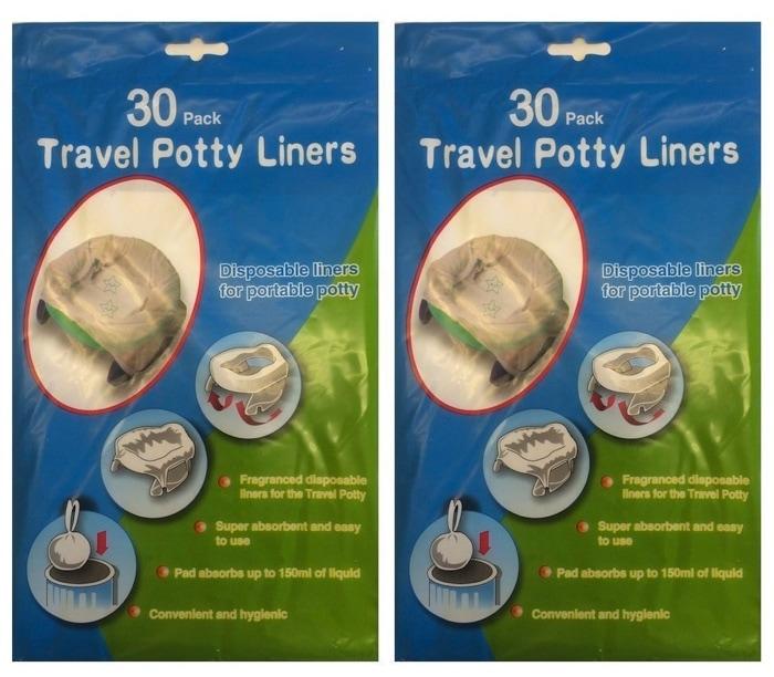 travel potty liners: bolsa para orinal