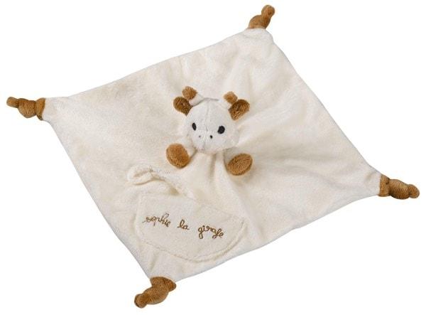Los 3 mejores regalos para un recién nacido: Mantita de arrullo para bebés de Vulli con diseño de Sophie la jirafa