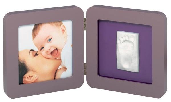 Los 3 mejores regalos para un recién nacido: Baby Art - Marco doble para foto y huella de pie o mano