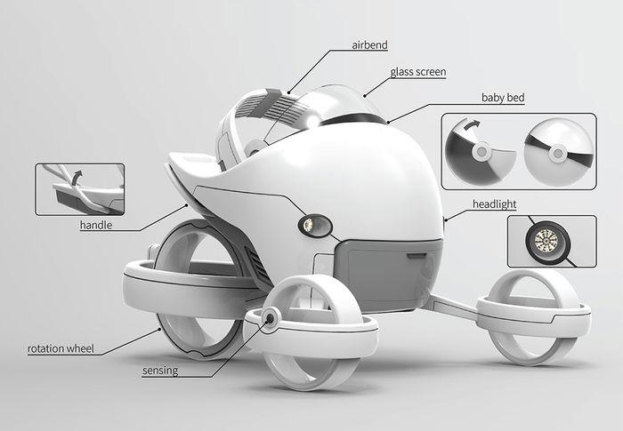 La silla de paseo del futuro para tu bebé ya esta diseñada: Strollever
