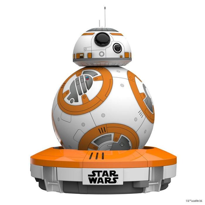 robot Sphero, un robot electrónico droide BB-8 de la nueva película de Star Wars