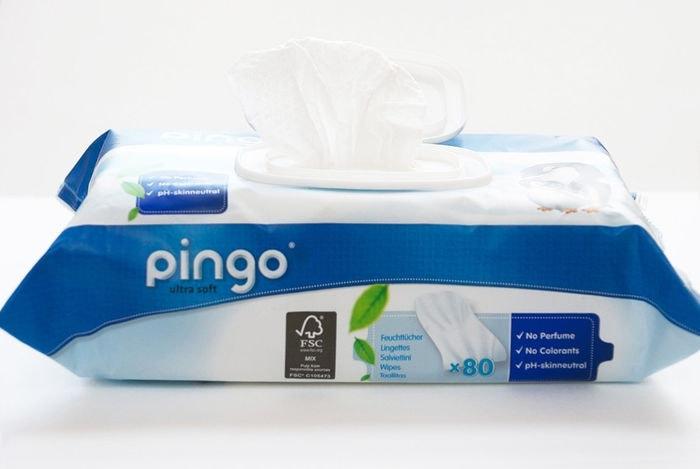 PINGO Toallitas ecológicas sin perfume