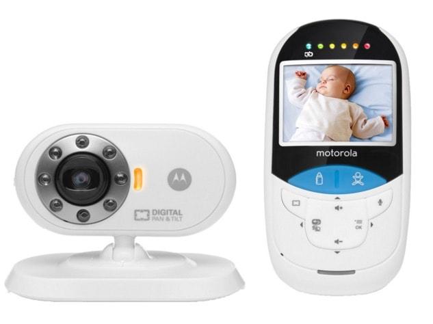 """Motorola MBP27T - Vigilabebés con termómetro y pantalla de 2.4"""""""
