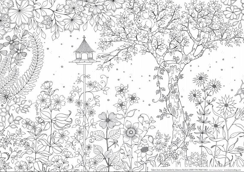 """""""El Jardín Secreto. Colorea y Encuentra Los Tesoros Escondidos"""" de Johanna Basford"""