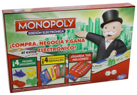Hasbro Gaming - Monopoly electrónico, juego de mesa (A7444105)