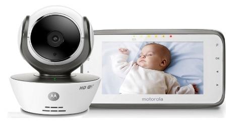"""Motorola MBP854 - Vigilabebés digital de vídeo con pantalla a color de 4.3"""", WiFi, color blanco"""