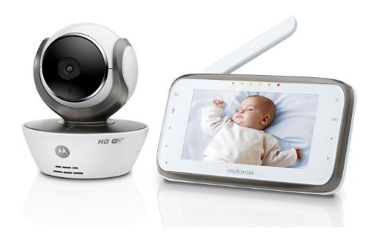 Motorola MBP854 – Vigilabebés digital de vídeo con pantalla a color de 4.3″, WiFi, color blanco