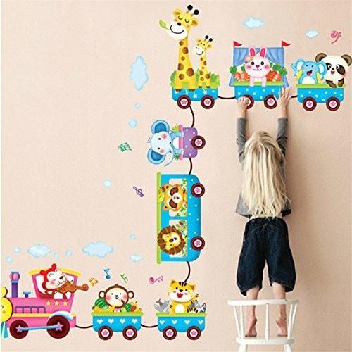 Pegatinas de pared con animales de la selva para habitaciones de niños pequeños de Kennmot