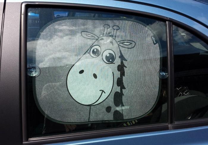 Panel Parasol lateral para coche, dibujo de jirafa EZ-Bugz para los niños, 2 unidades)