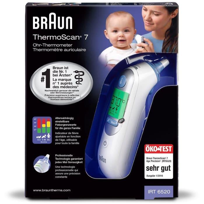 Braun Thermoscan 7 -Termómetro digital para bebés de oído