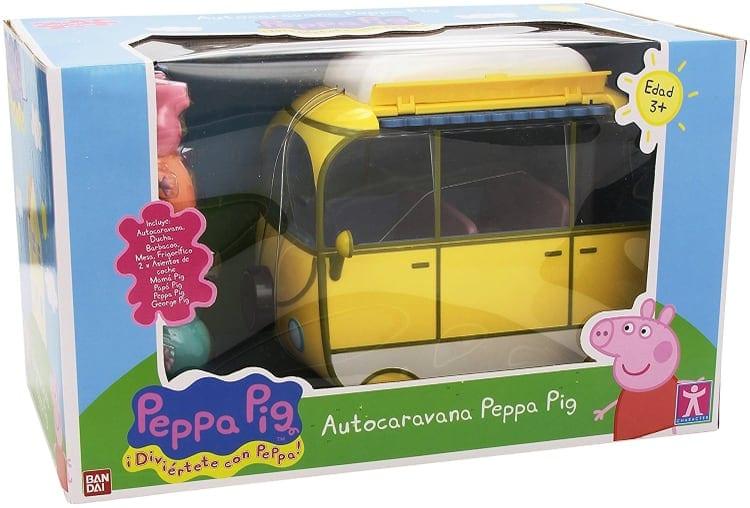 Peppa Pig Auto caravana de vacaciones, color amarillo (Bandai 84211)