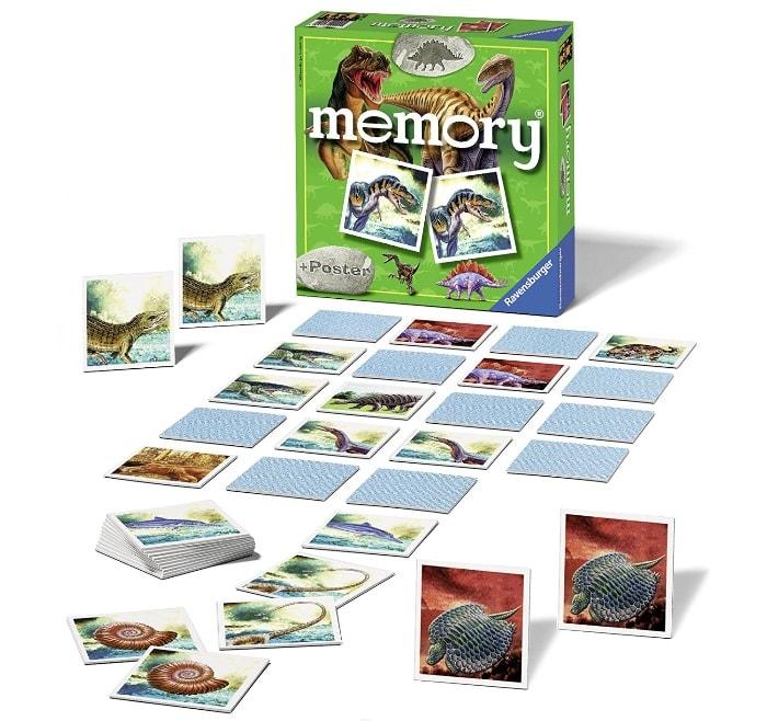 Aprendamos los nombres d elos dinosaurios:Ravensburger – Memory, diseño dinosaurios