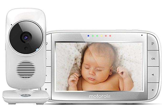 """Motorola MBP 48 - Vigilabebés vídeo con pantalla LCD a color de 5.0"""", modo eco y visión nocturna"""
