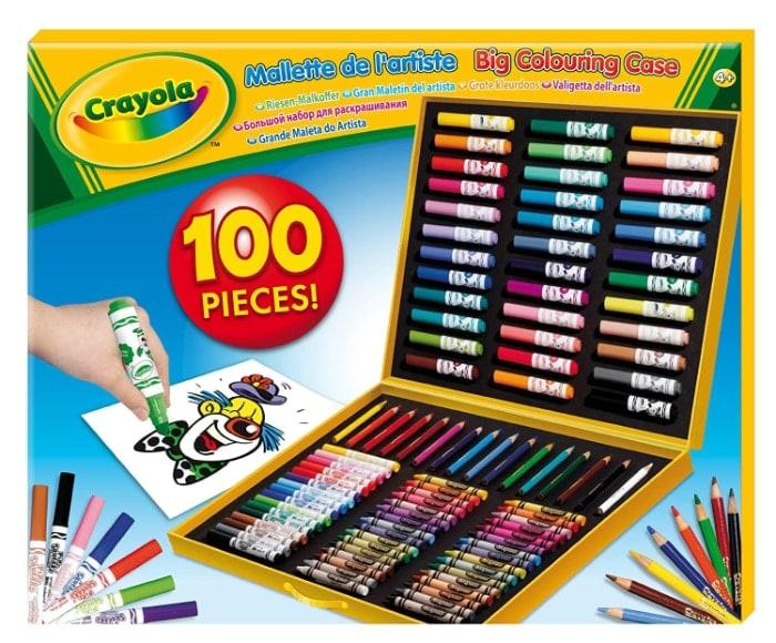 Crayola - Maletín para colorear con 100 accesorios (+4 años)