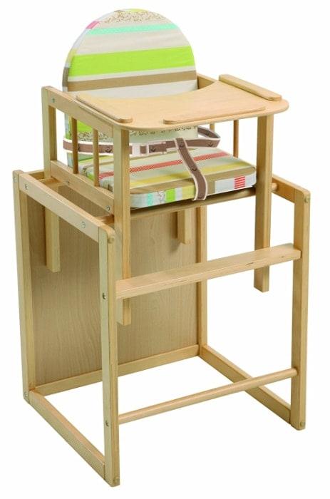 Trona Combi roba, trona con bandeja transformable en silla y mesa independientes
