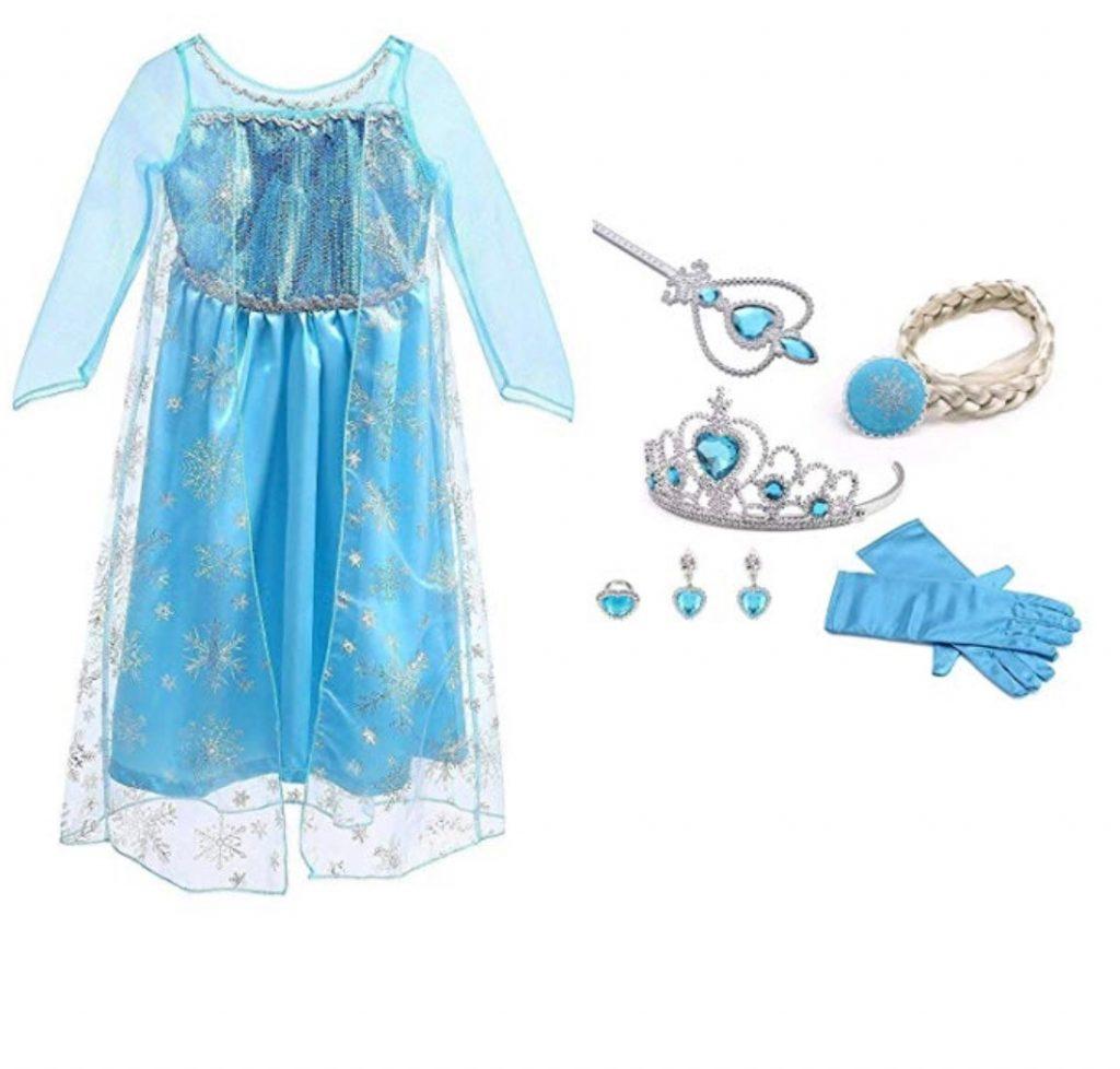 Vestido de Princesa Elsa, Reina Frozen