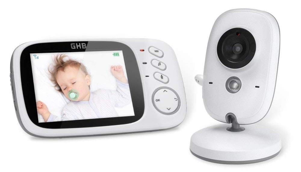 """Vigilabebés de GHB con pantalla LCD de 3.2"""" y cámara con visión nocturna"""
