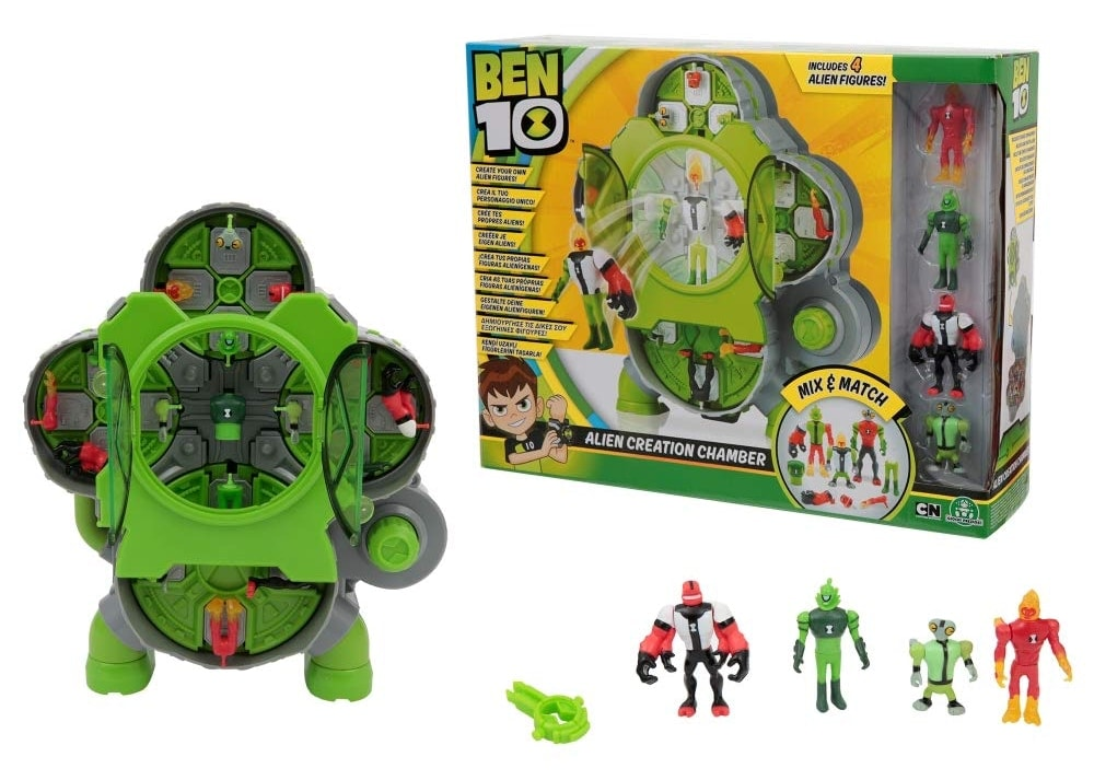 BEN 10 -  Alien Creation Chamber Laboratorio crea aliens con 4 figuras