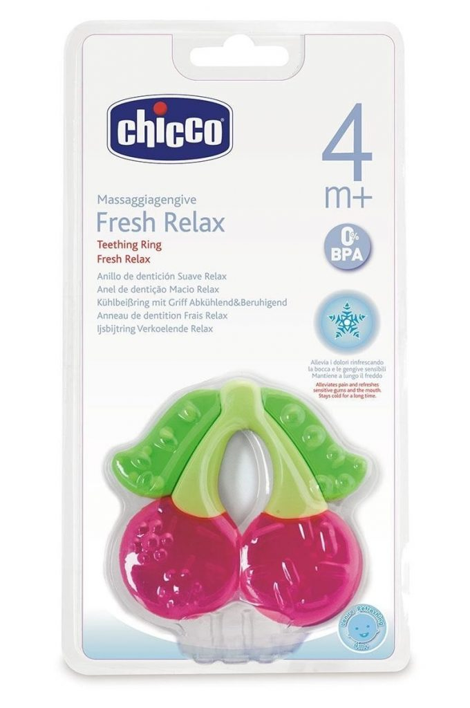 Chicco Fresh Relax - Mordedor de dentición, diseño cereza