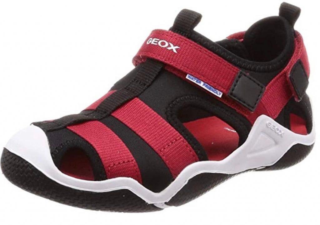 Geox Jr Wader A, Sandalias de punta cerrada para niños