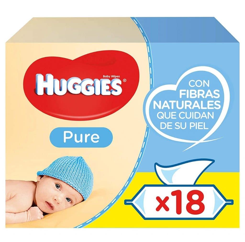 Huggies Pure Toallitas para Bebé: 18 paquetes de 56 unidades