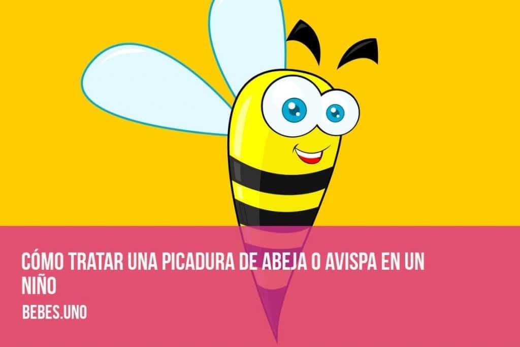 Cómo tratar una picadura de abeja o avispa en un niño