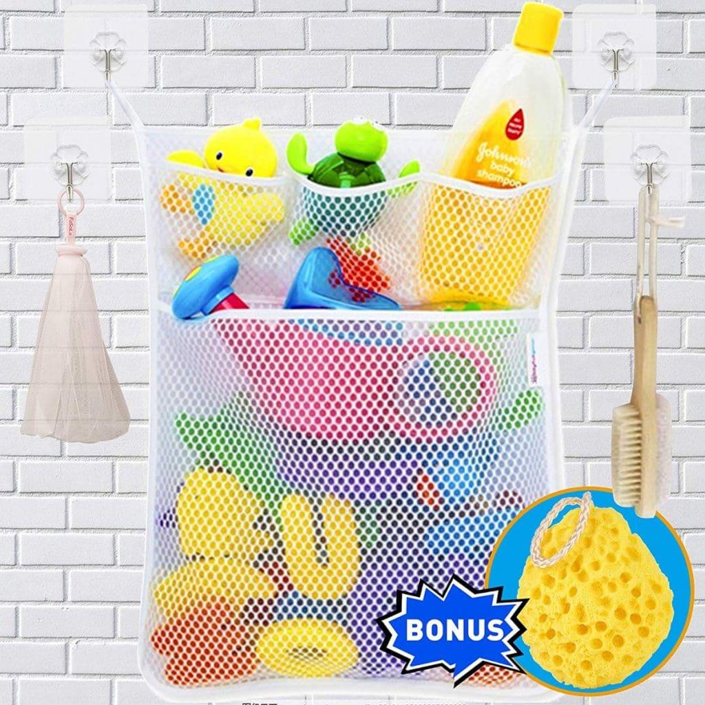 Bolsa de almacenamiento de juguetes de baño de Wemk