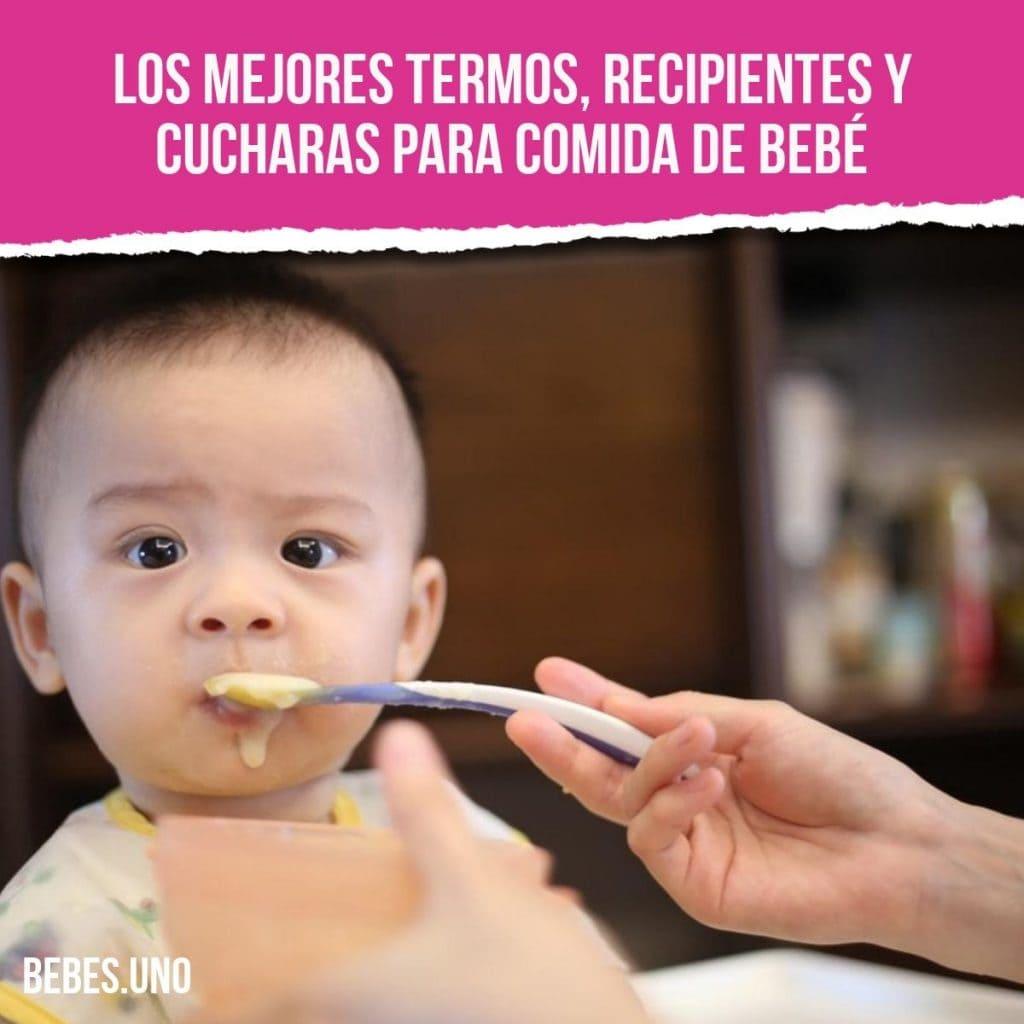 ¿Cuáles son los mejores termos, recipientes y cucharas para comida de bebé?