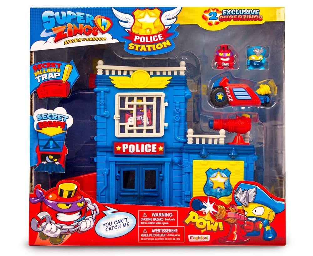 Estación de Policía con 2 figuras SuperZings