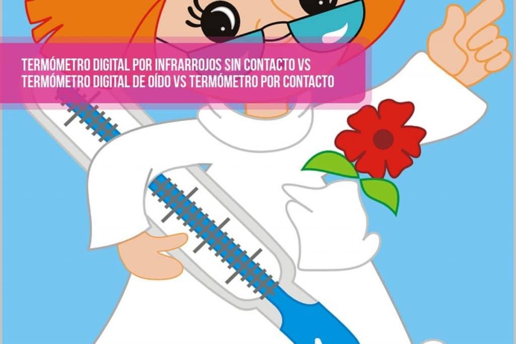 Termómetro digital por infrarrojos sin contacto vs Termómetro digital de oído vs termómetro por contacto