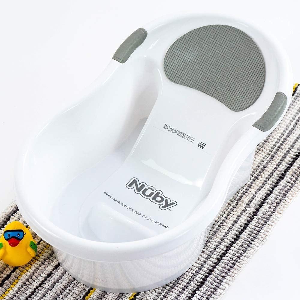 Nuby - Bañera para bebé con asiento incorporado y reposacabezas