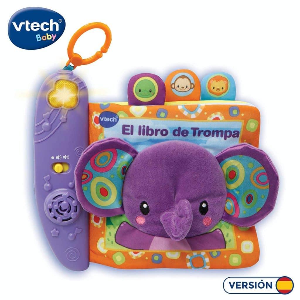 Cuento de Tela Interactivo para bebés con un Elefante de Peluche de VTech