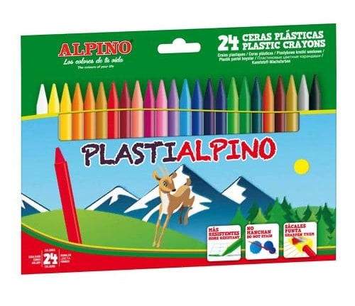 Ceras Alpino PLASTIALPINO - Estuche de 24 Surtido