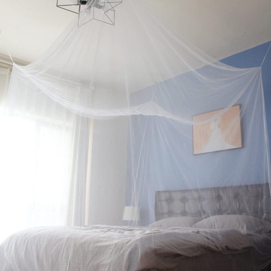 Mosquitera para cama doble con Kit de colocación de Sekey