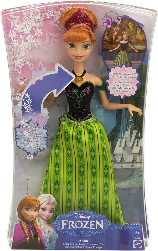 Muñeca Anna, Princesa cantarina, 33 cm (Mattel CJJ09)