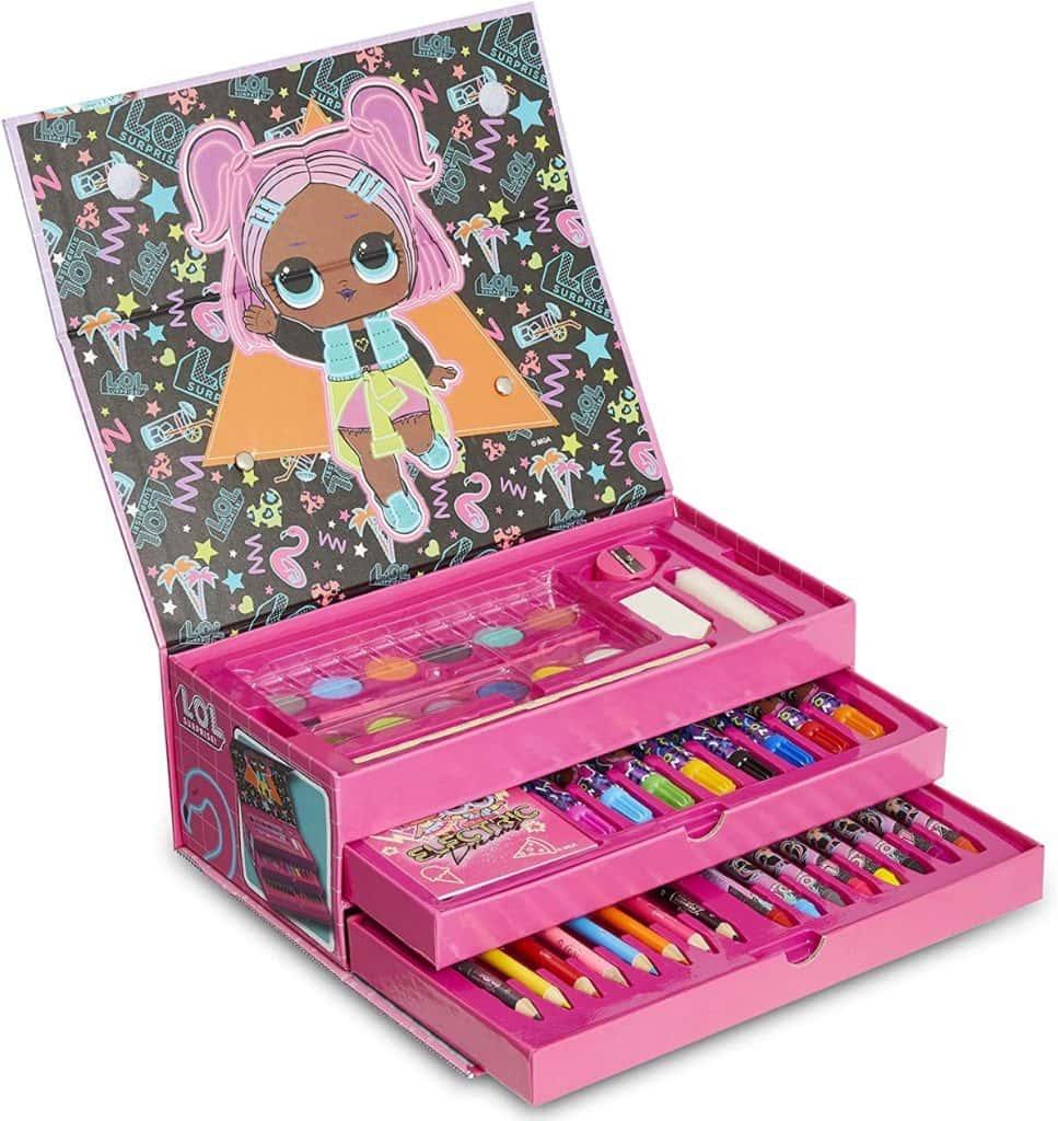 L.O.L. Surprise! Maletín Infantil Rosa De Pinturas con 52 Piezas