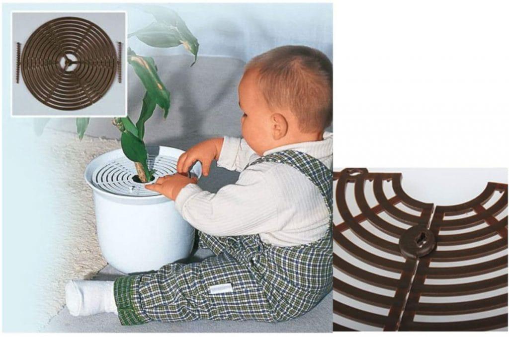 Rejillas para macetas: protege la tierra de tus plantas de bebés y gatos
