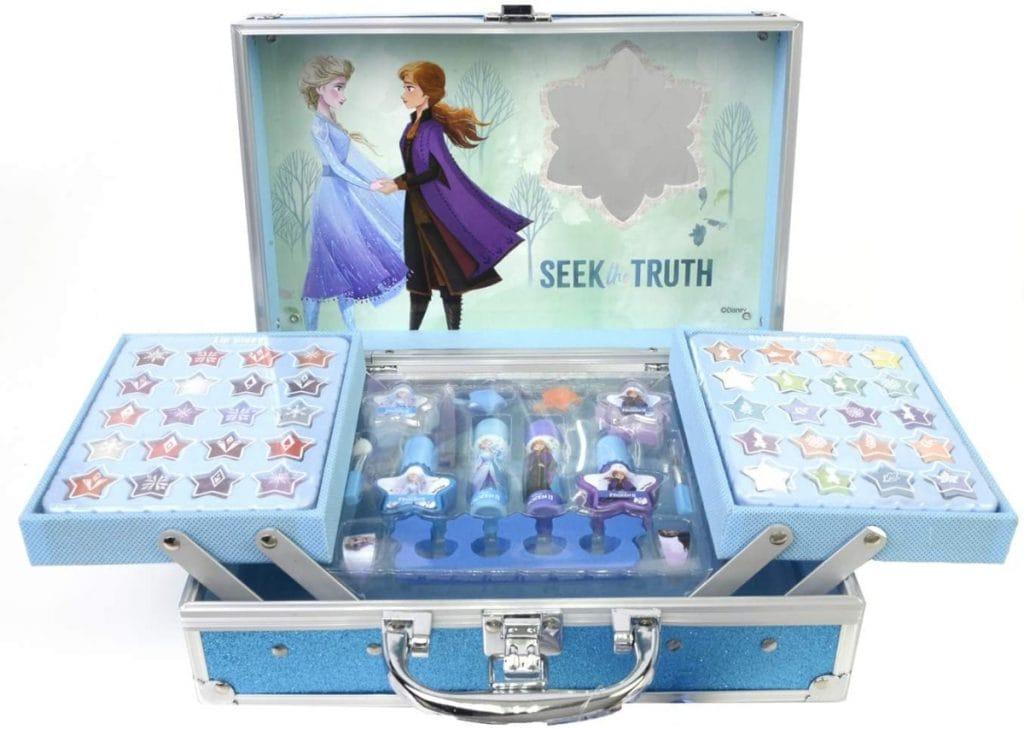 Frozen II Princess Makeup Traincase - Neceser Frozen II, Set de Maquillaje para Niñas