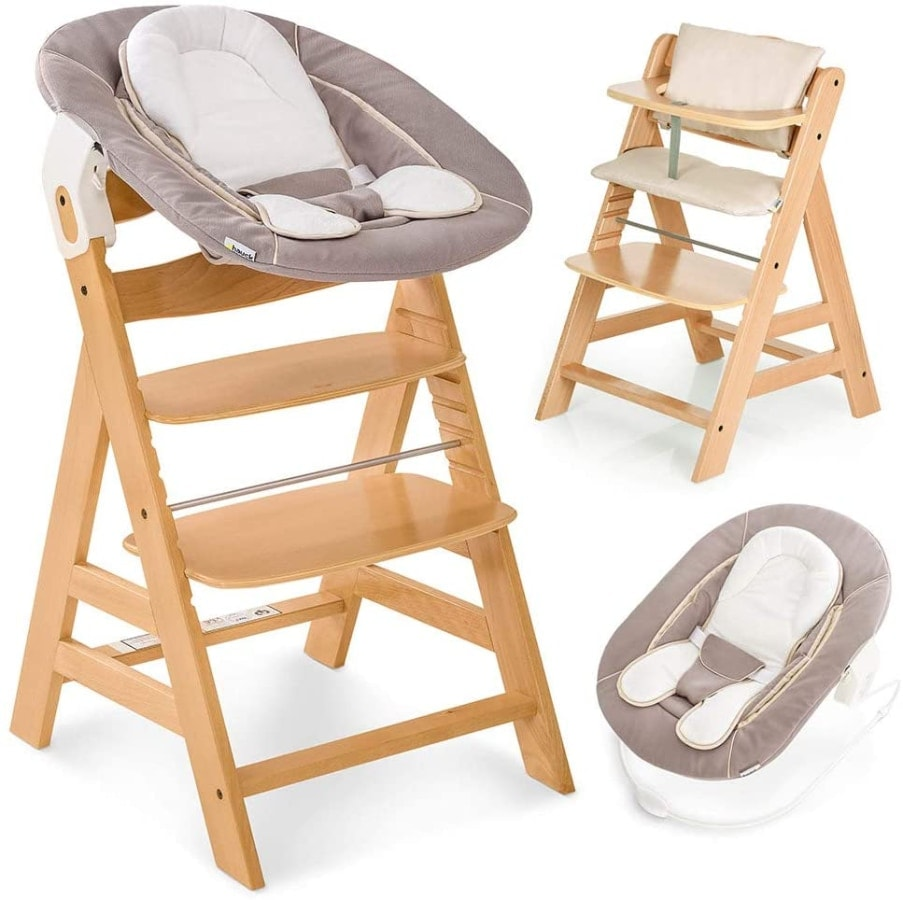Hauck Alpha Plus Newborn Set - Trona de madera evolutiva