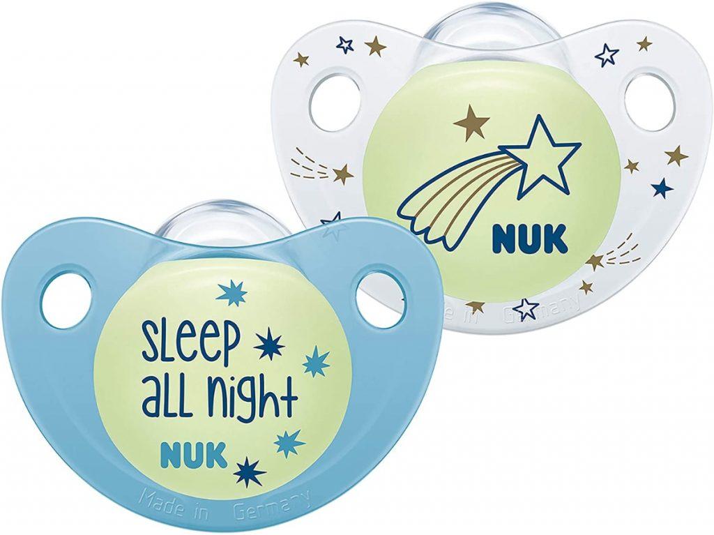 Nuk Trendline Night & Day - Chupete con efecto de luz azul